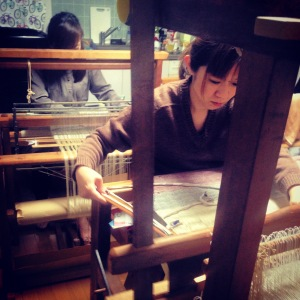 silk weaving school