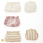 #012/ Silk clutch bag #013/ Silk purse bag